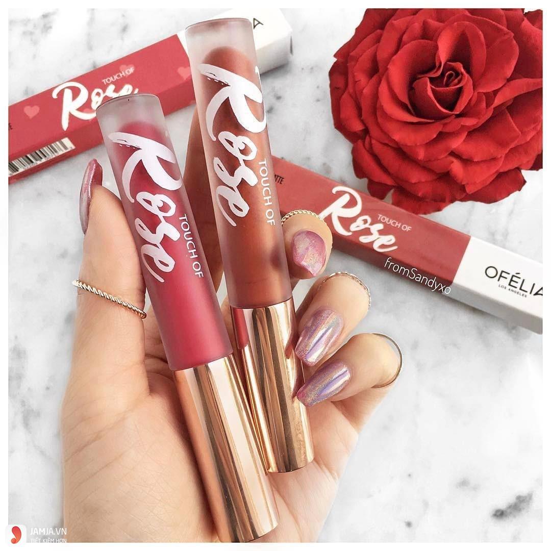 Son Ofélia Touch Of Rose Lipstick màu cam cháy