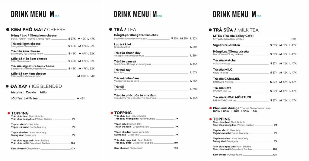 Menu Mtea & Bakery 3