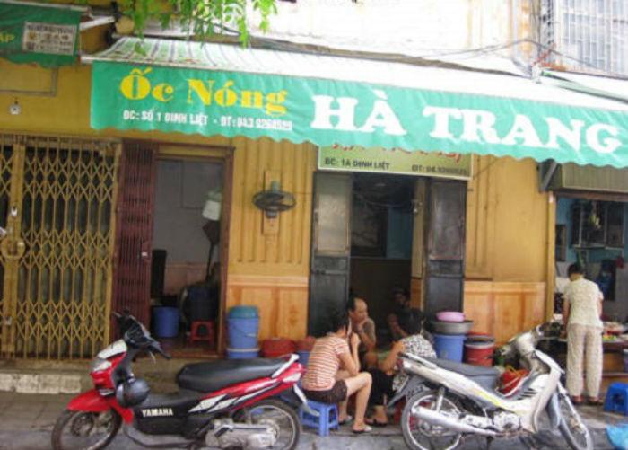 địa chỉ quán ốc Hà Trang
