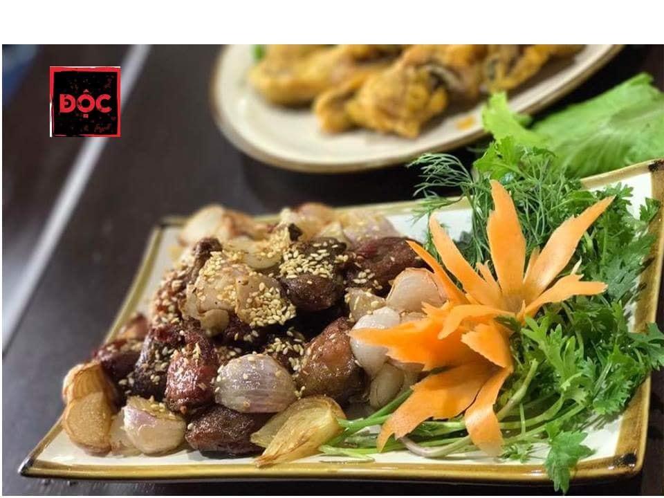 Độc Quán menu