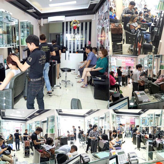 không gian bên trong sancy Hair Salon