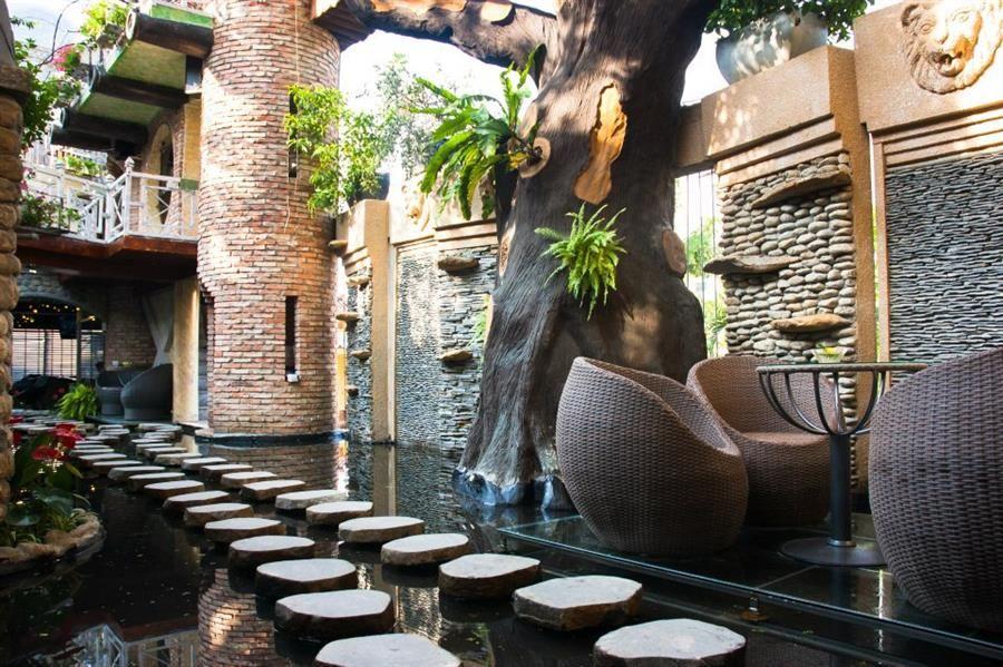 không gian oasis cafe
