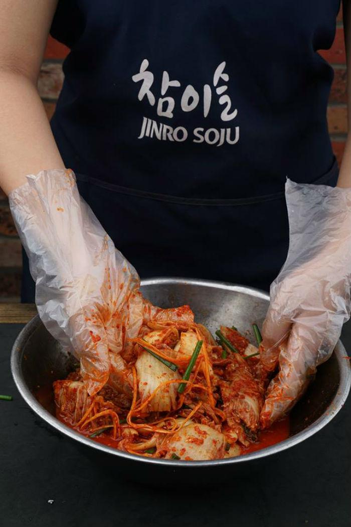 kim chi muối tại quán Jeju Korean BBQ