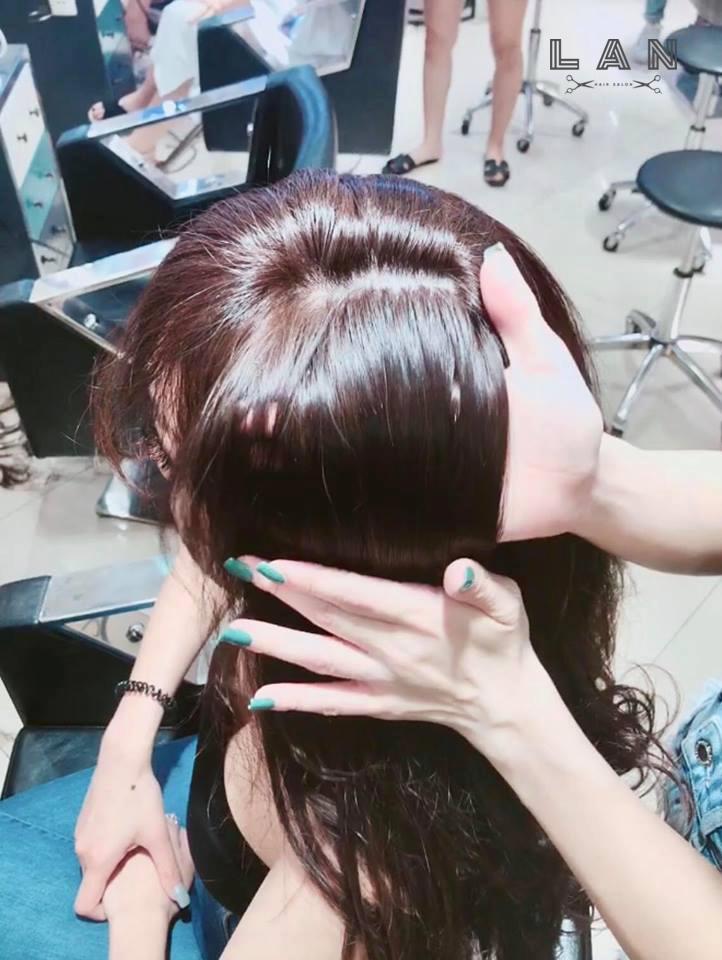 làm bóng tóc tại lan hair salon