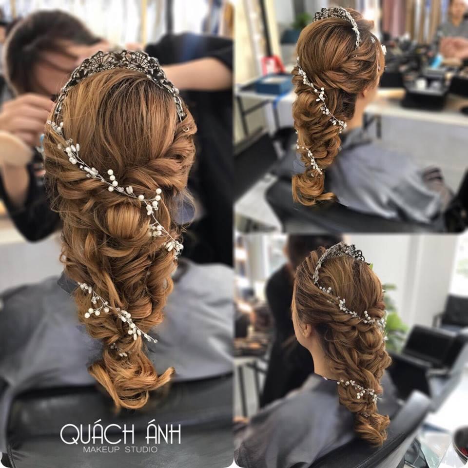 mẫu tóc cô dâu tại Quách Anh Makeup