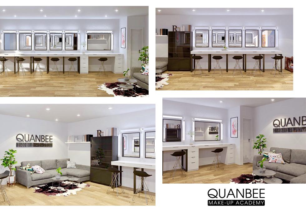 phòng trang điểm trang điểm Quanbee Make-Up