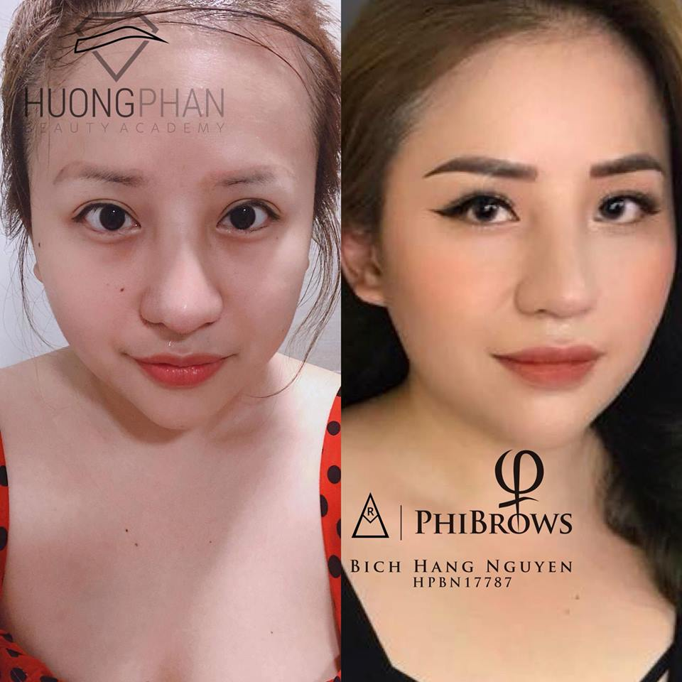 sự thay đổi của khách hàng khi đến thẩm mỹ viện Huong Phan Beauty Academy