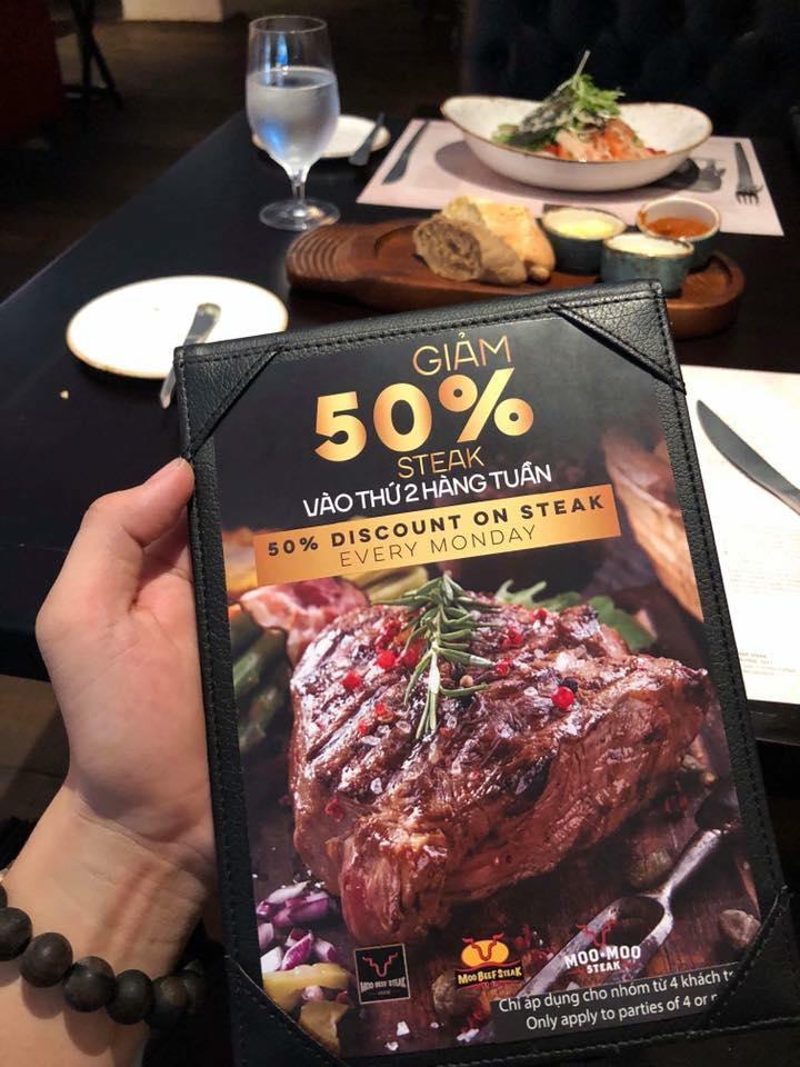 thực đơn các món Moo Beef Steak Prime