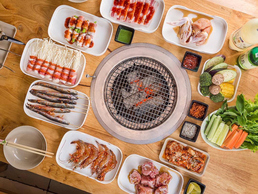 thực đơn món nướng quán chinku bbq