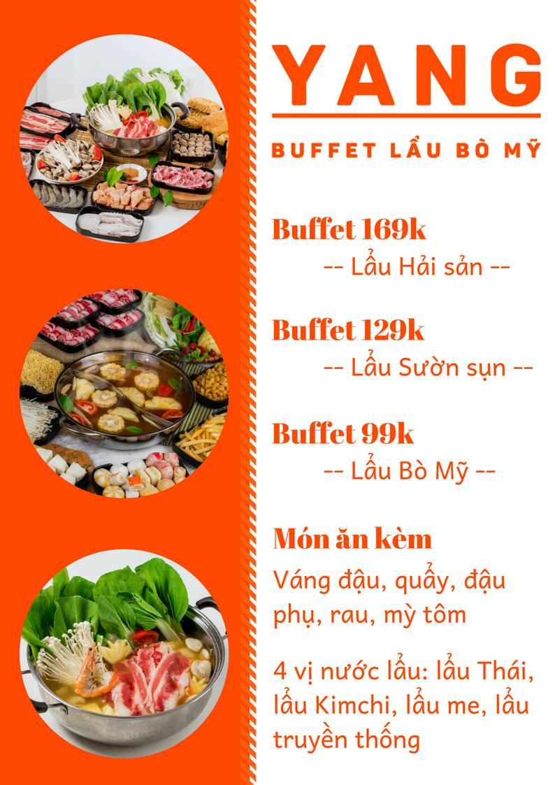 Yang buffet menu lẩu