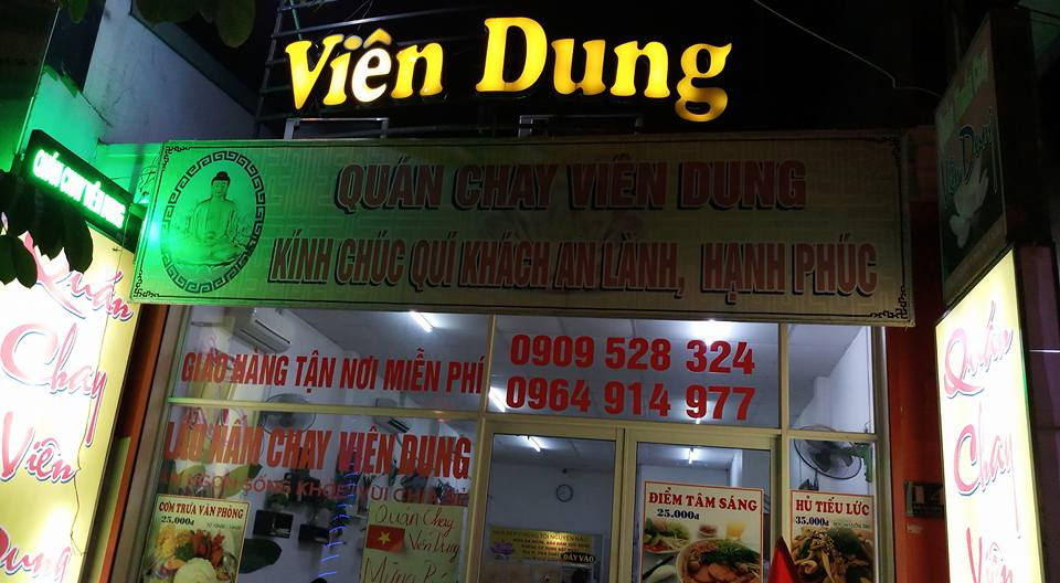 địa chỉ quán chay Viên Dung
