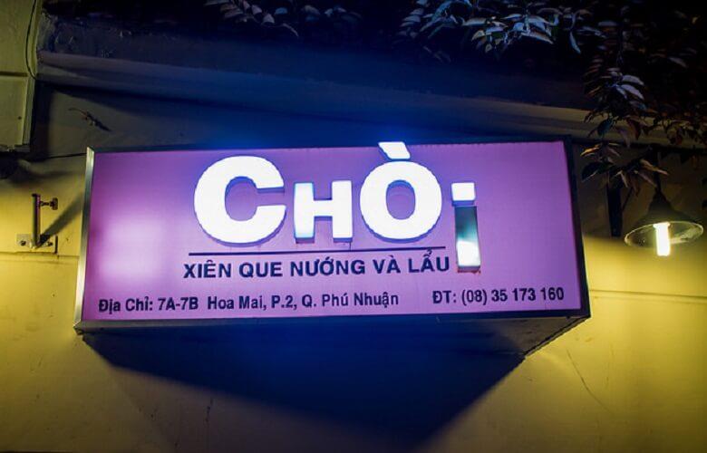 địa chỉ quán Nướng Lẩu Chòi