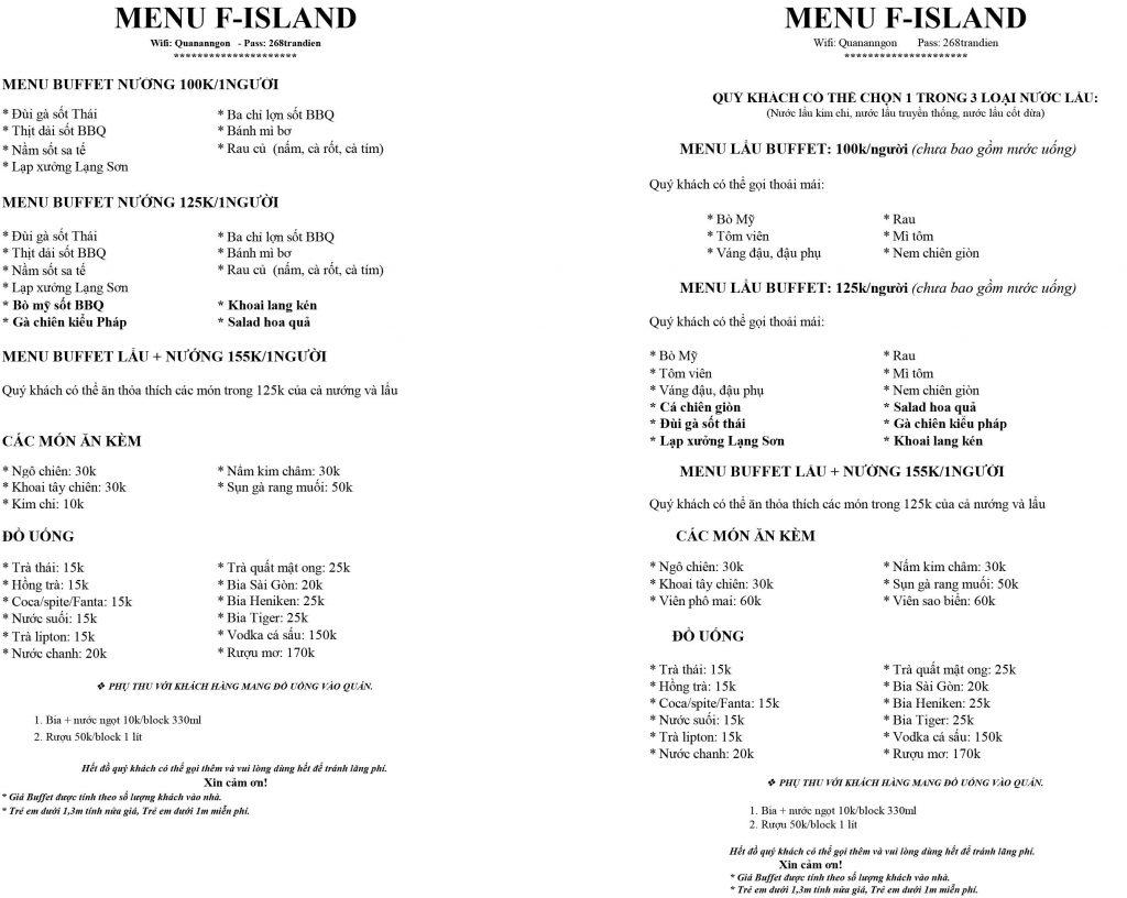Menu F.Island