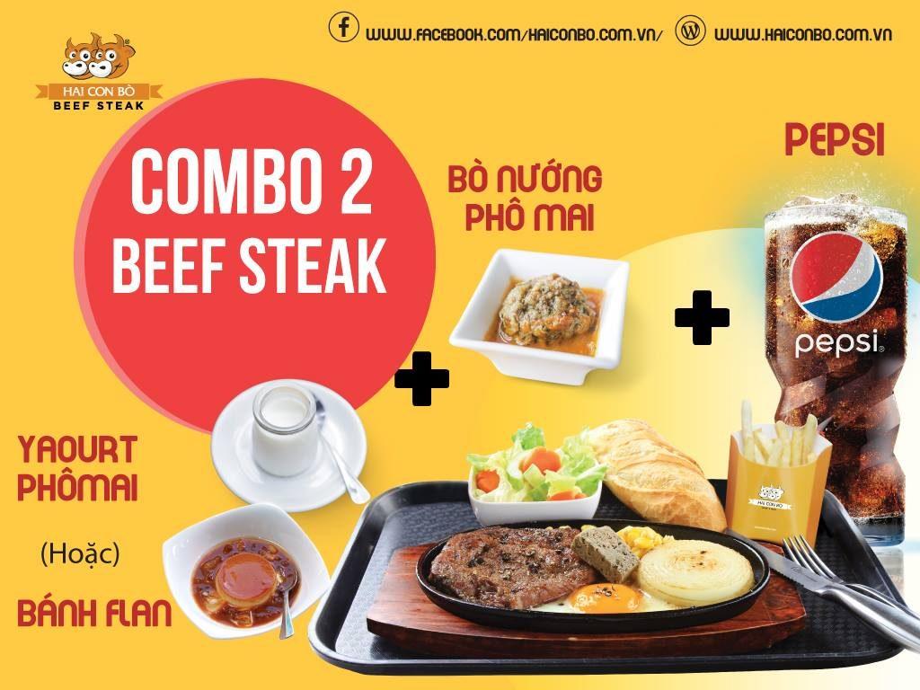 Menunhà hàng Hai Con Bò Beefsteak 2