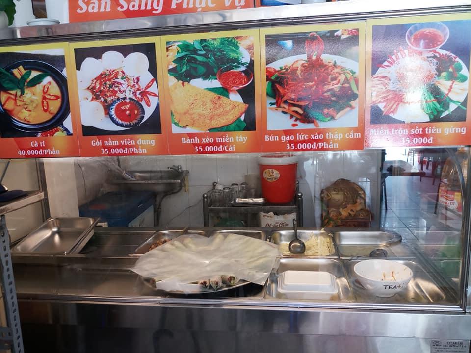 nhà bếp quán chay Viên Dung