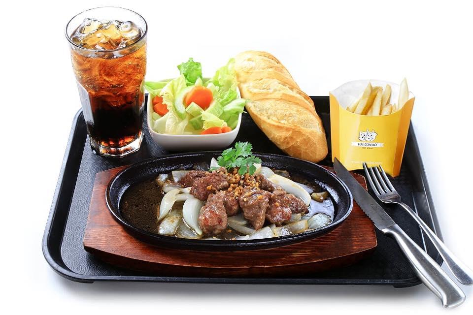 Review món ăn tại nhà hàng Hai Con Bò Beefsteak 2