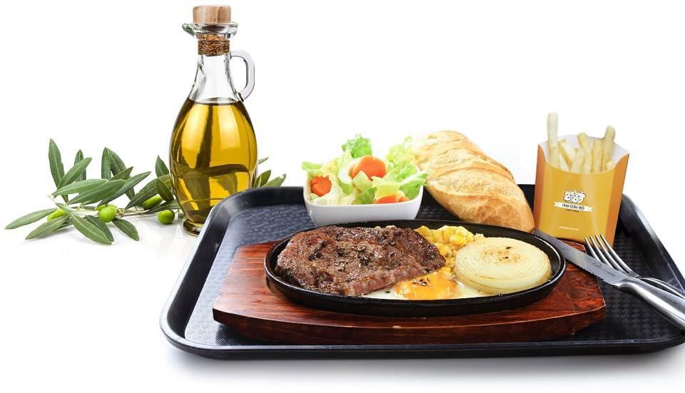 Review món ăn tại nhà hàng Hai Con Bò Beefsteak 3