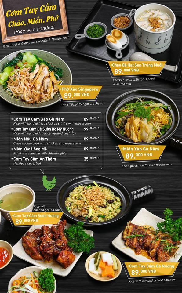 Chicken Way menu cơm gà