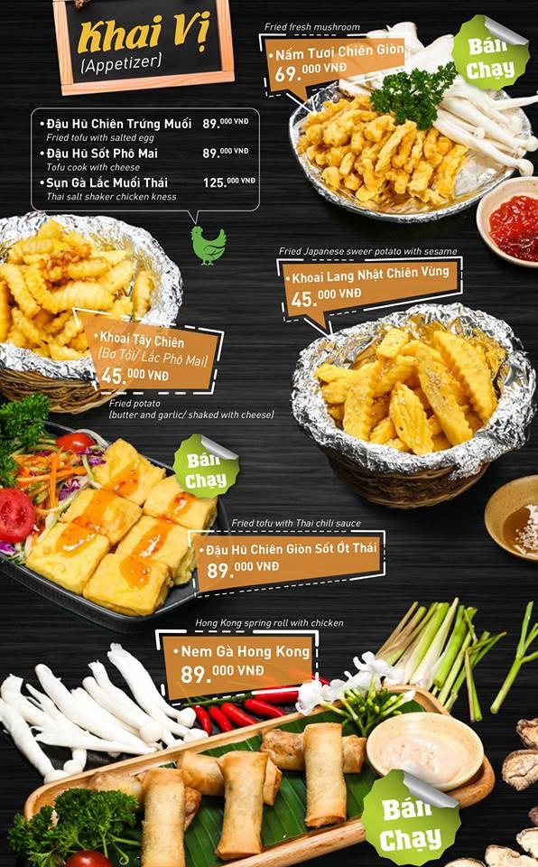 Chicken Way menu khai vị