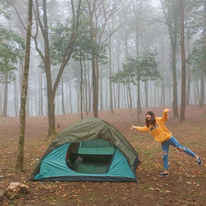 cắm trại ở ba vì