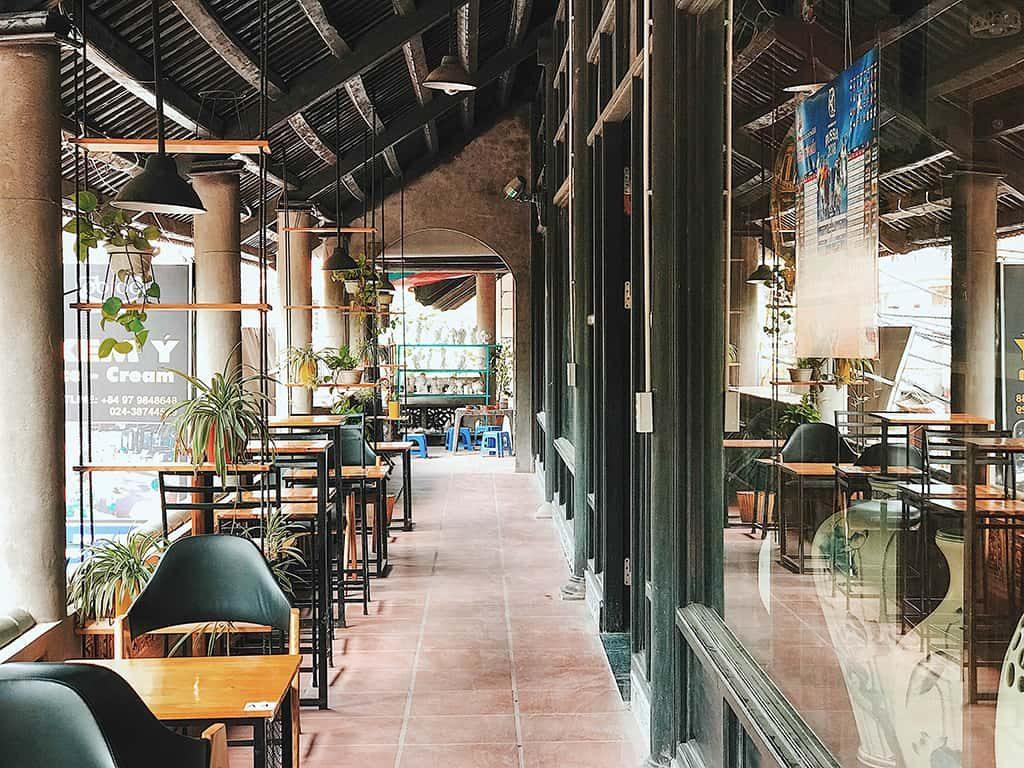 không gian cafe