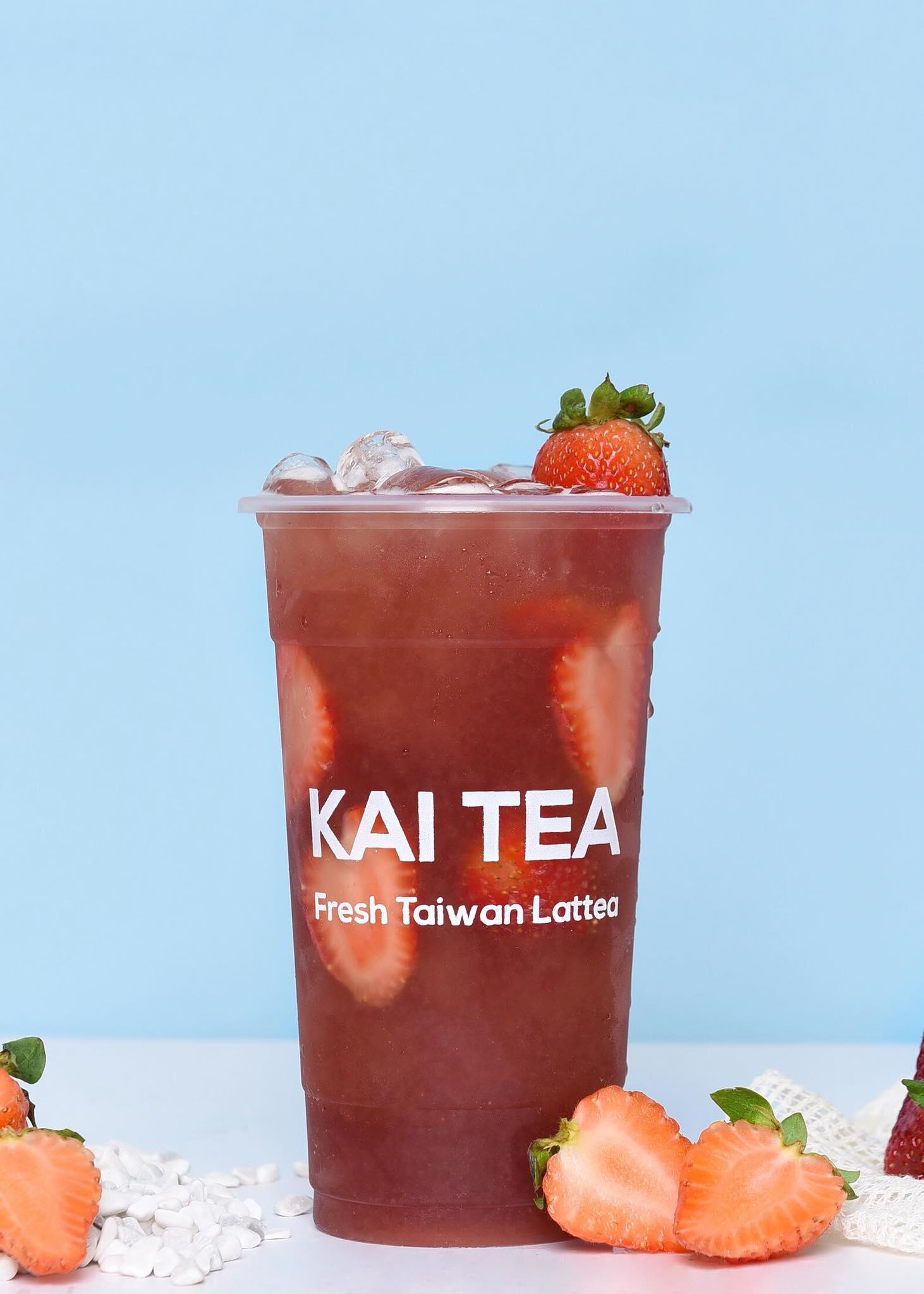 Menu trà hoa quả Kai Tea