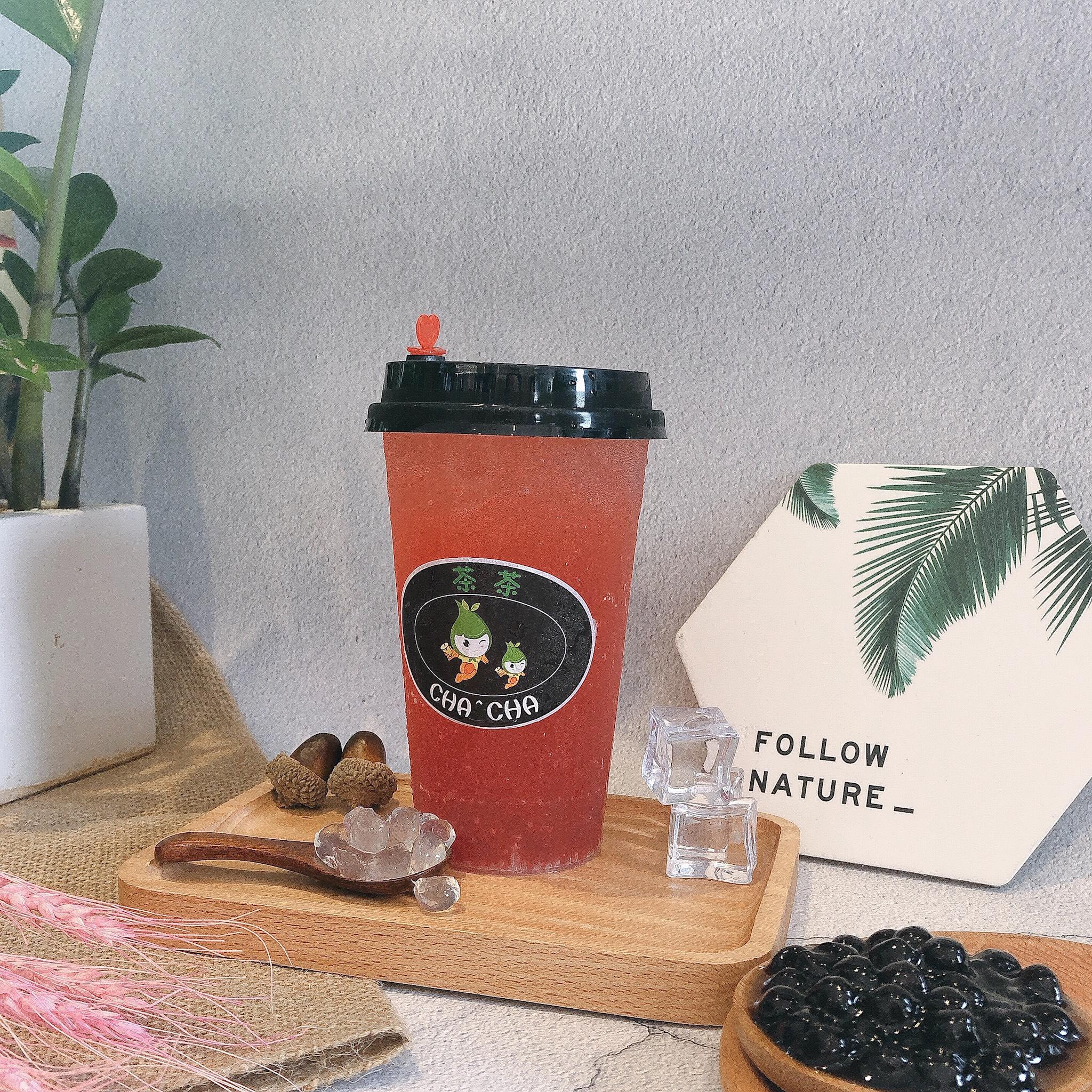 review menu trà sữa cha cha