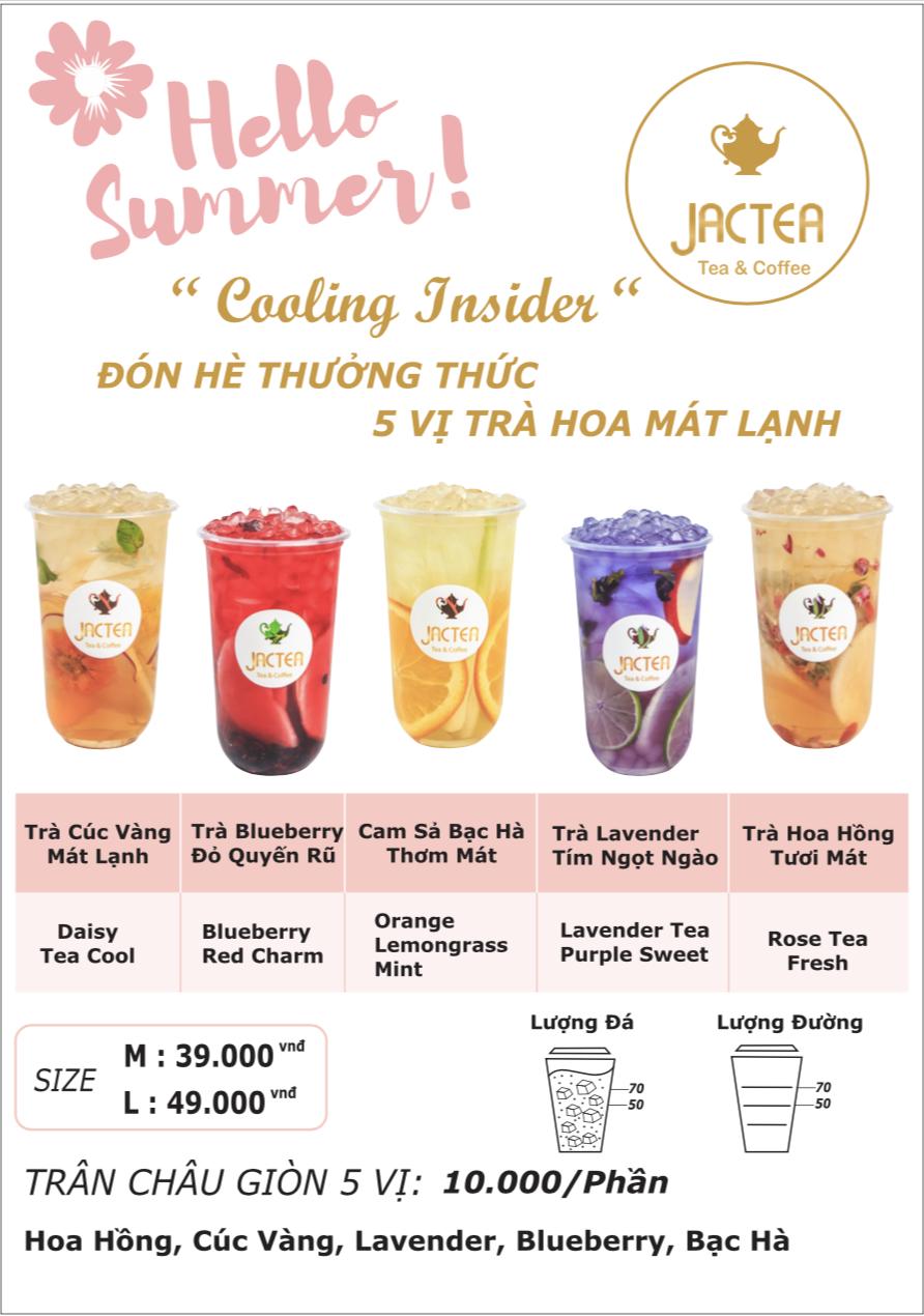 menu trà hoa quả Jactea