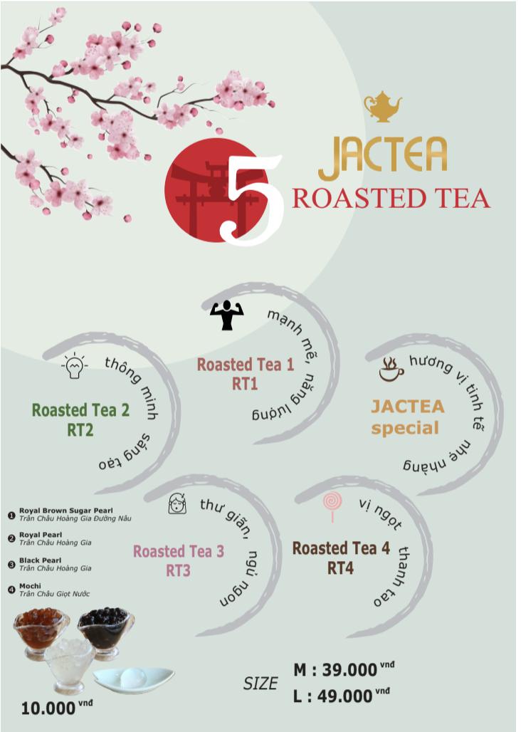 Menu trà sữa nướng Jactea