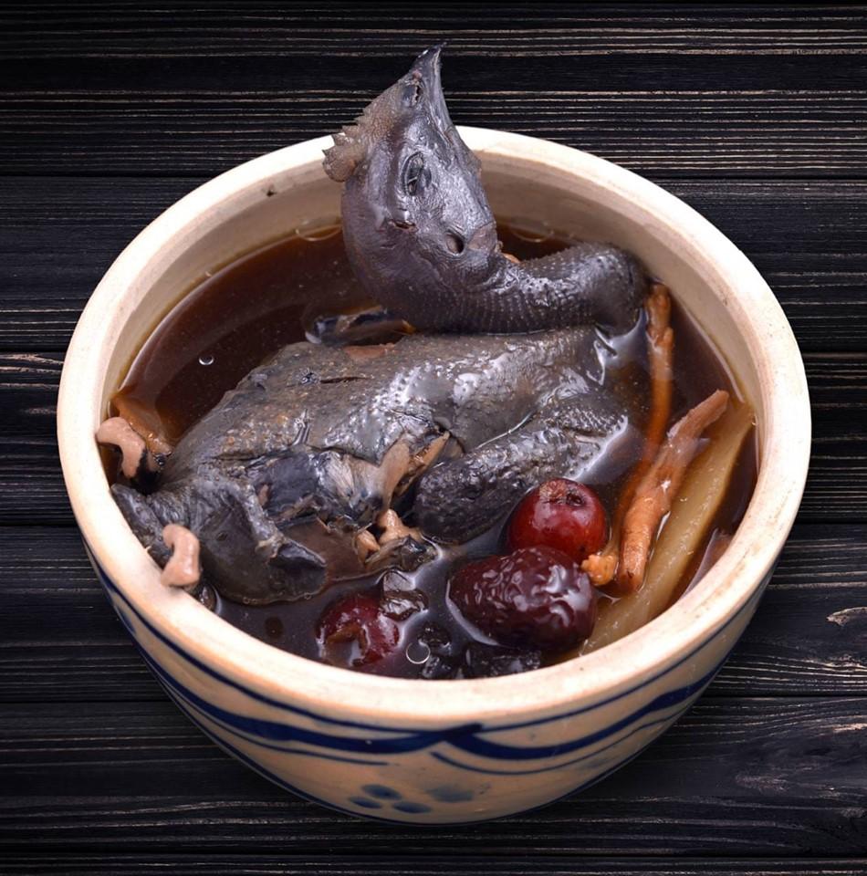 gà ác tẩm thuốc bắc mì vịt tiềm yau chan