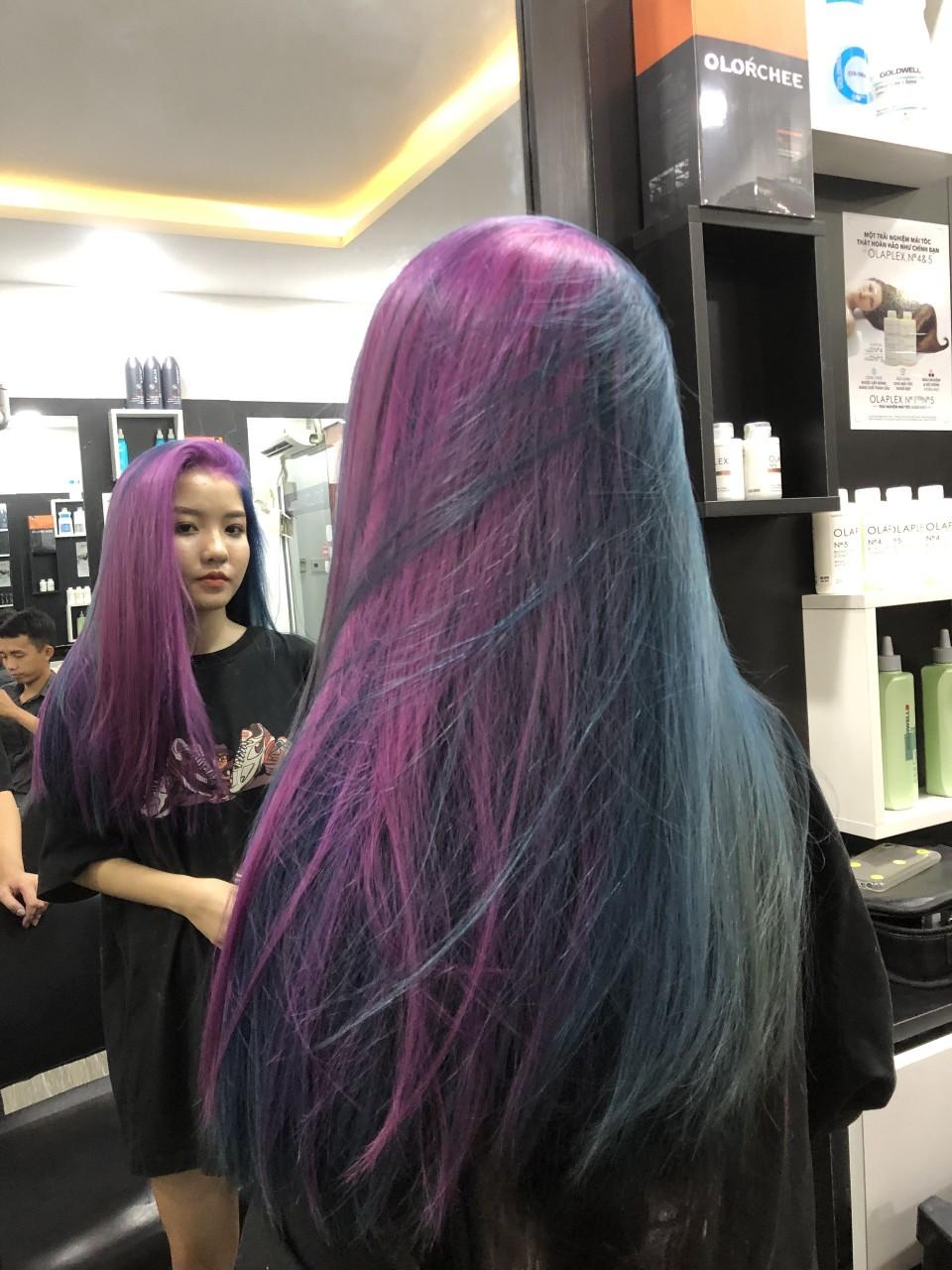nhuộm tóc hair salon Quốc Huy