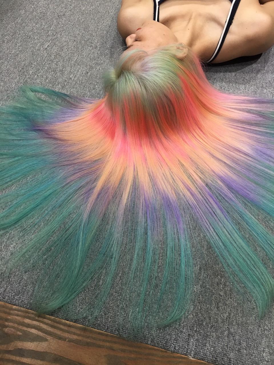nhuộm tóc hair salon Quốc Huy 1