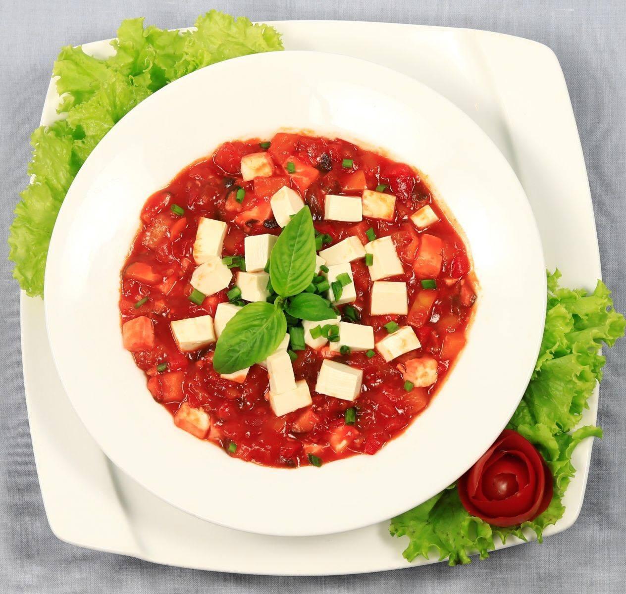 đậu hũ sốt cà chua