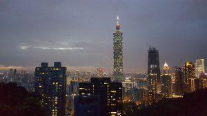 Đài Loan lung linh về đêm. Ảnh: Hà Vân