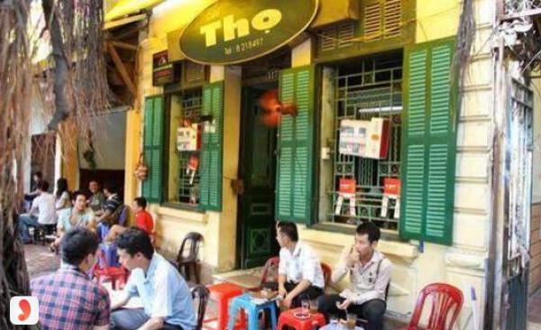 không gian cafe Thọ