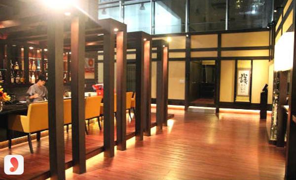 không gian nhà hàng Juugoya