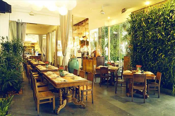 nhà hàng liên hoan cuối năm quận 3, không gian Nhà hàng Gạo