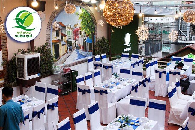 nhà hàng liên hoan cuối năm quận 3, không gian Nhà hàng Vườn Quê