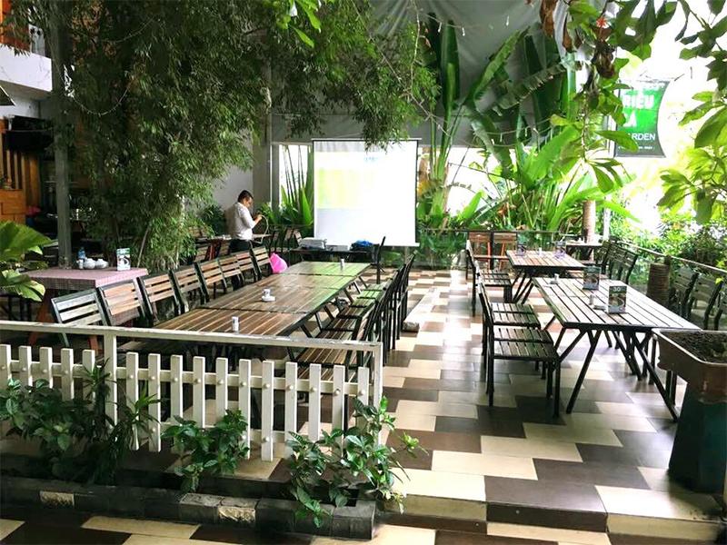 không gian Riêu Cá Garden nhà hàng liên hoan cuối năm sài gòn