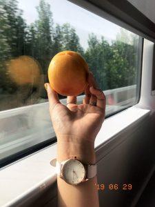 Quả đào trên tàu cao tốc rời Bắc Kinh đi Tô Châu!