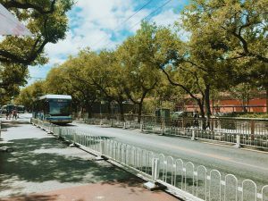 Một góc đường phố siêu xanh siêu sạch ở Bắc Kinh