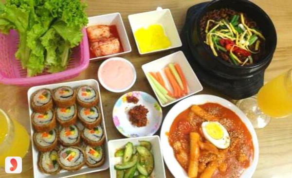 menu Gimbab Hàn Quốc