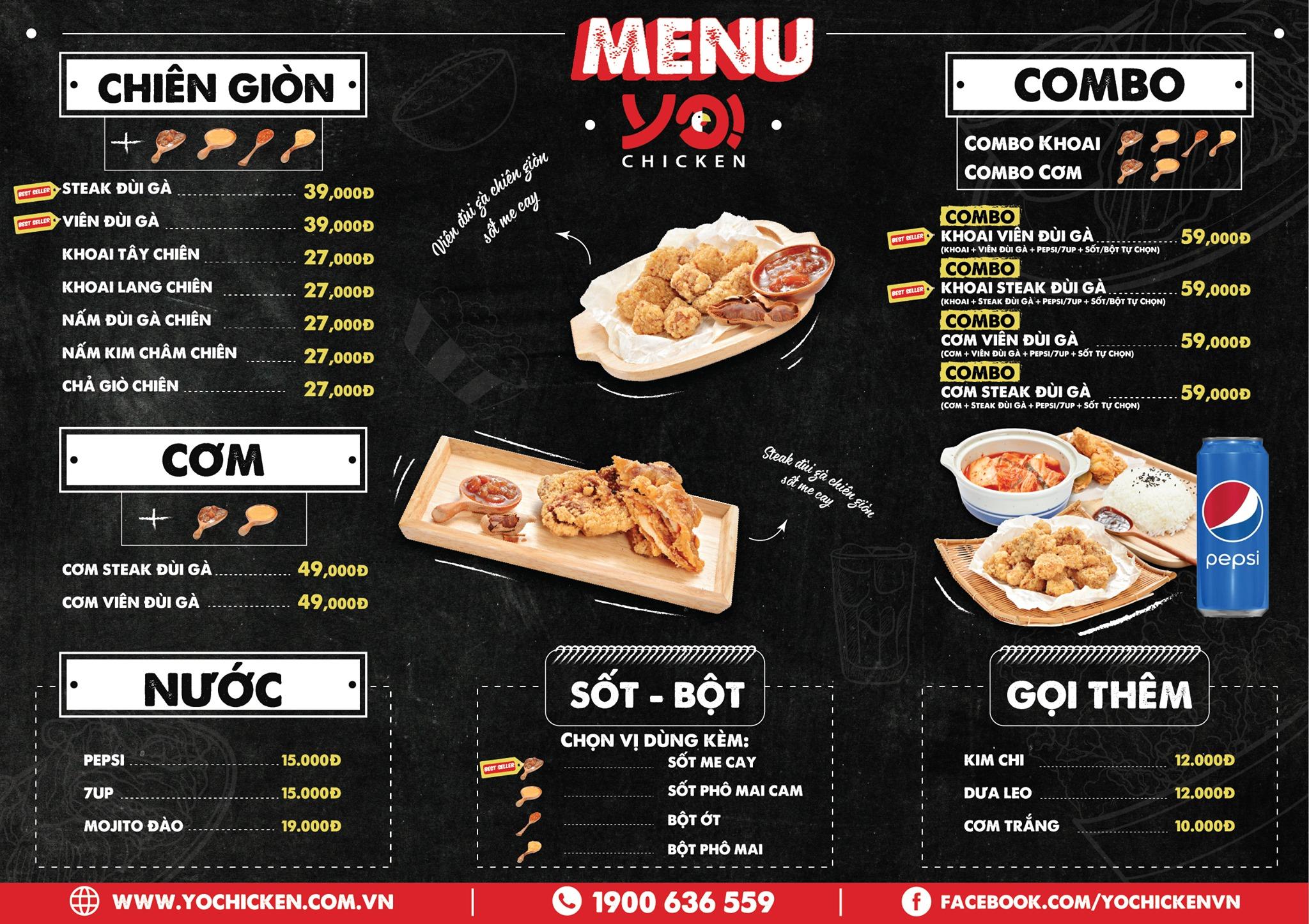 menu Yo!Chicken