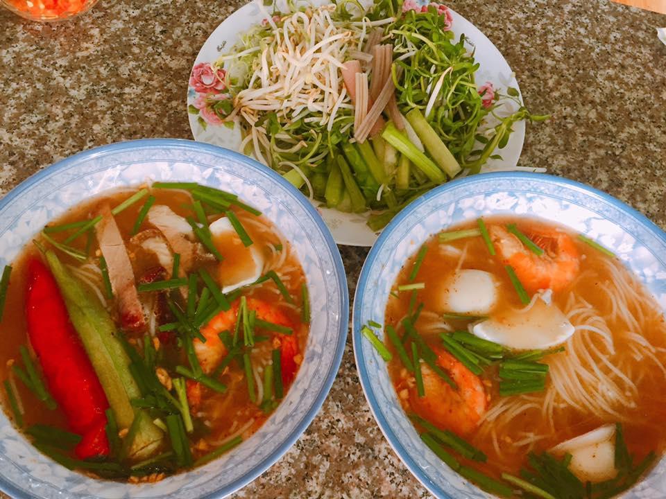 menu Quán Bún Mắm Mười Thanh