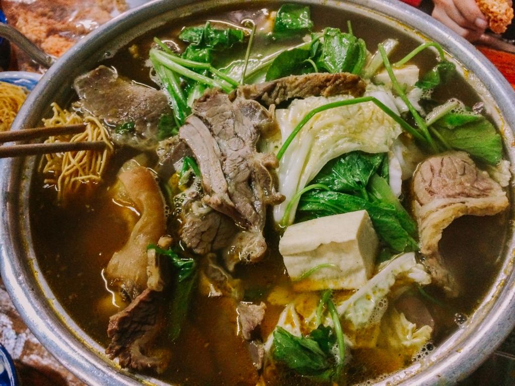 menu Lẩu Bò quán Cầu Ngang