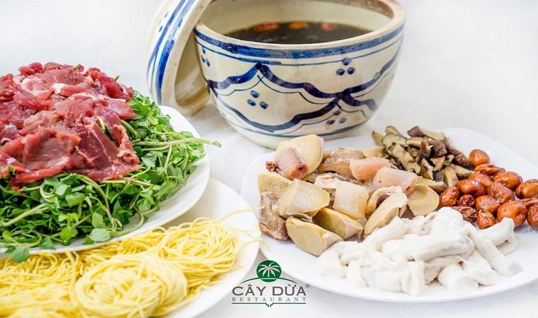 menu Nhà hàng Cây Dừa