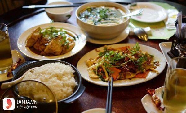 menu nhà hàng chay Thiền Tịnh