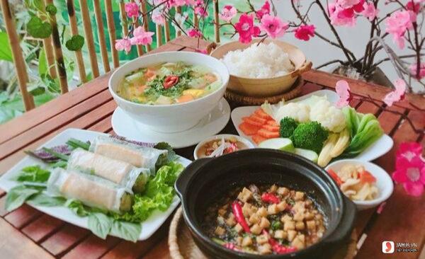 menu Nhà hàng chay Phương Mai