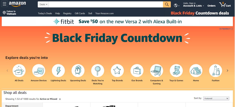 Amazon Black Friday 2019 Thương mại điện tử