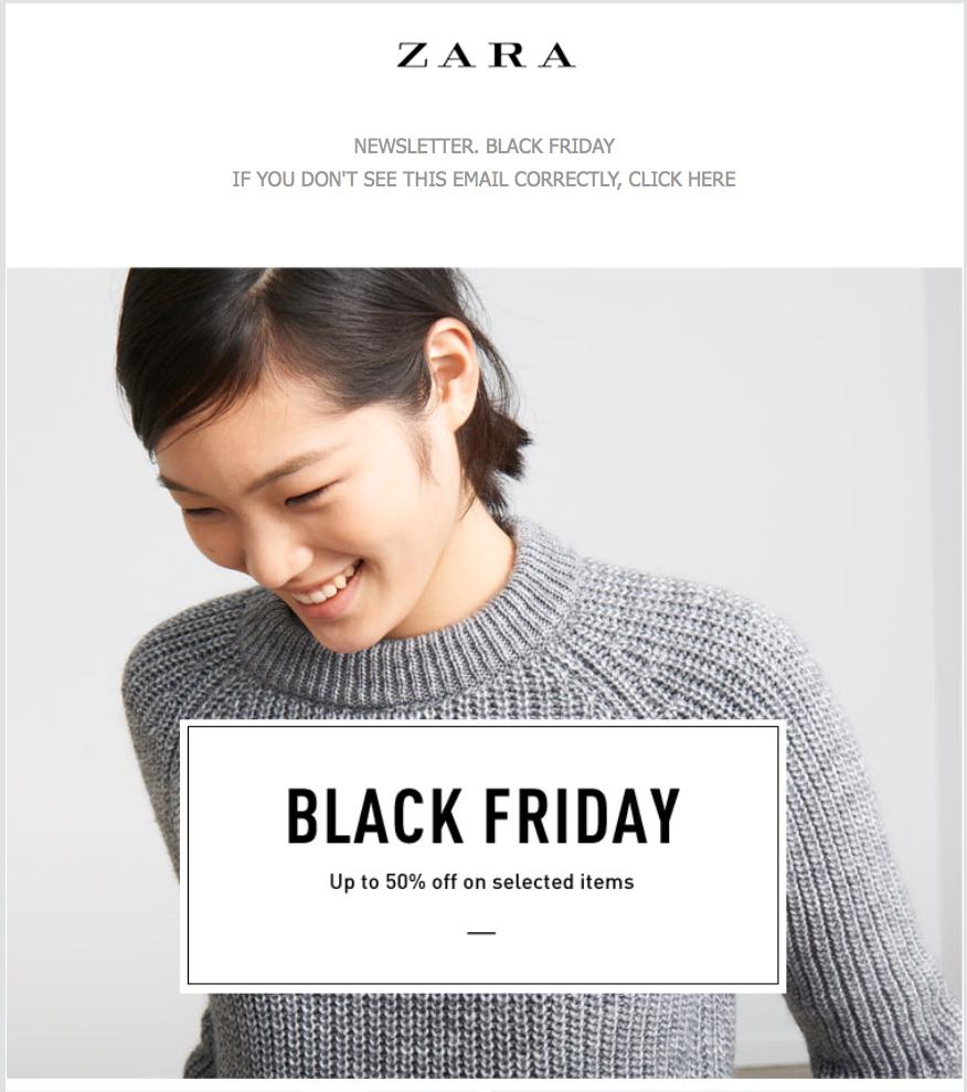 Black Friday 2019 Thương hiệu Zara